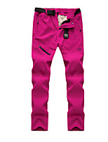 cheap -Women's Hiking Pants Winter Outdoor Waterproof Windproof Breathable Quick Dry Pants / Trousers Bottoms Hunting Fishing Climbing Purple Fuchsia Black S M L XL XXL Regular Fit / Warm / Wear Resistance