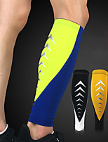 cheap -Leg Sleeves Calf Support Calf Compression Sleeves Sporty for Running Marathon Basketball Moisture Wicking Elastic Breathable Men's Women's Spandex Fabric 1pc Sports Black White Fuchsia