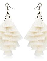 cheap -Women's Hoop Earrings Retro Love Classic Vintage Earrings Jewelry Beige / White For Wedding Party 1 Pair