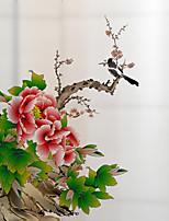 cheap -Peonies Window Film & Stickers Decoration Matte / Scenery Floral / Flower / Floral PVC(PolyVinyl Chloride) Window Sticker / Matte / Door Sticker