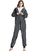 cheap -Adults' Kigurumi Pajamas Bear Onesie Pajamas Flannelette Black Cosplay For Men and Women Animal Sleepwear Cartoon Festival / Holiday Costumes