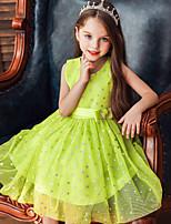 abordables -Princesse Robe Fille Cosplay de Film Cosplay Halloween Noir / Blanche / Vert Robe Halloween Carnaval Mascarade Tulle Polyester