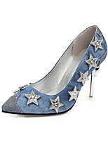 cheap -Women's Heels Stiletto Heel Pointed Toe PU Classic Spring &  Fall Blue / Silver / Wedding / Party & Evening