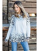 cheap -Women's Daily Basic Blouse - Leopard Print Beige