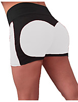 cheap -Women's Yoga Shorts Ruched Butt Lifting Solid Color Black Black / Red Black / Rose Red White Purple Elastane Fitness Gym Workout Shorts Sport Activewear Breathable Quick Dry Soft High Elasticity