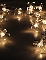 cheap -4m String Lights 20 LEDs 1 set Warm White Decorative AA Batteries Powered