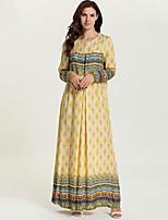 cheap -Adults' Women's Abaya Dress For Party Cotton 3D Print Halloween Carnival Masquerade Dress