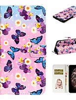 cheap -Case For Apple iPhone 11 / iPhone 11 Pro / iPhone 11 Pro Max Wallet / Card Holder / with Stand Full Body Cases Butterfly PU Leather For iPhone XS Max/XS/XR/X/8 Plus/7/6/6s Plus/5/5S/SE