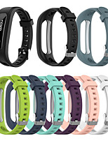 cheap -Watch Band for HONOR 4 Running / Band 3E  Huawei Modern Buckle Silicone Wrist Strap