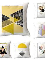 cheap -6pcs Throw Pillow Simple Classic 45*45 cm Blue abstract print pillow office waist cushion cover