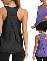 cheap -Women's Yoga Top Winter Solid Color Black Dark Grey Purple Red Blue Cotton Yoga Running Fitness Vest / Gilet Sleeveless Sport Activewear Breathable Moisture Wicking Quick Dry Micro-elastic Loose