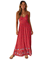 cheap -Women's Elegant Sheath Dress - Geometric Black Yellow Red S M L XL