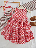 cheap -Kids Girls' Check Dress Red
