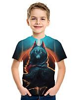 cheap -Kids Boys' Active Street chic 3D Animal Print Short Sleeve Tee Blue