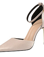 cheap -Women's Heels Stiletto Heel Pointed Toe Bowknot Synthetics Sweet / British Fall / Spring & Summer Black / Wine / Almond / Party & Evening
