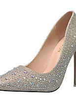 cheap -Women's Wedding Shoes Stiletto Heel Pointed Toe Sequin Synthetics Sweet / British Fall / Spring & Summer Black / Gold / Silver / Party & Evening