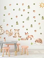 cheap -Decorative Wall Stickers - Plane Wall Stickers / Holiday Wall Stickers Animals / Floral / Botanical Nursery / Kids Room