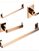cheap -Bathroom Accessory Set / Towel Bar / Robe Hook Cool Contemporary / Modern Brass / Metal 3pcs - Bathroom / Hotel bath Single / 1-Towel Bar / towel ring Wall Mounted