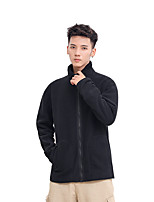cheap -Men's Hiking Fleece Jacket Winter Outdoor Fleece Lining Warm Comfortable Winter Fleece Jacket Single Slider Climbing Camping / Hiking / Caving Winter Sports Black / Grey / Dark Blue