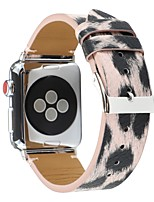 cheap -Silver Leopard Watch Band for Apple Watch Series 4 / Apple Watch Series 3 / Apple Watch Series 2 Apple Sport Band Genuine Leather Wrist Strap