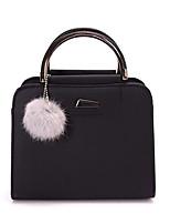 cheap -Women's Zipper PU Top Handle Bag Geometric Pattern Black / Wine / Blushing Pink