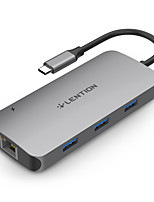 cheap -LENTION CB-TP-CE57 USB 3.0 to HDMI 2.0 / USB 3.0 / RJ45 / SD Card / TF Card USB Hub 10 Ports High Speed / with Card Reader(s) / Support Power Delivery Function / Support Thunderbolt 3