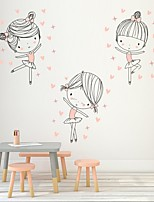 cheap -Cover Dancing Girls Decorative Wall Stickers - Plane Wall Stickers  Princess Nursery / Kids Room