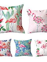 cheap -5 pcs Throw Pillow Simple Classic 45*45 cm Flamingo Car Waist Pillow Sofa pillow cover