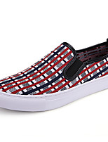 cheap -Men's Comfort Shoes Mesh Summer / Spring & Summer Sporty / Casual Loafers & Slip-Ons Walking Shoes Breathable Black / White / Red