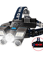 cheap -Headlamps 200 lm LED LED 3 Emitters with Batteries Portable Camping / Hiking / Caving Everyday Use Cycling / Bike Black