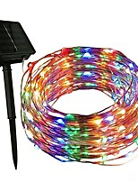 cheap -2m String Lights 200 LEDs 1Set Mounting Bracket 1 set Warm White / White / Multi Color Halloween / Christmas Party / Decorative / Holiday Solar Powered