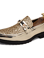 cheap -Men's Dress Shoes Synthetics Spring & Summer / Fall & Winter Casual / British Loafers & Slip-Ons Non-slipping Black / Gold / Silver / Party & Evening
