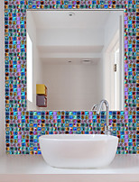 cheap -Funlife 10*10cm*18pcs Mosaic Self-Adhesive Waterproof DIY Wall Art Home Kitchen Bedroom Bathroom kitchen Tile Sticker Wall Sticker