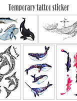 cheap -5 pcs Temporary Tattoos Water Resistant / Waterproof / Mini Style / Safety Face / Body / Hand Water-Transfer Sticker Body Painting Colors
