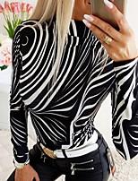abordables -Tee-shirt Femme, Rayé Noir