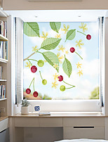 cheap -Cherry Pattern Matte Window Film Static Cling Vinyl Thermal-Insulation Privacy Protection Home Decor For Window Cabinet Door Wardrobe Window Sticker / Matte / Door Sticker