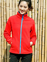 cheap -Women's Hiking Fleece Jacket Winter Outdoor Windproof Fleece Lining Warm Comfortable Jacket Winter Fleece Jacket Top Fleece Single Slider Climbing Camping / Hiking / Caving Winter Sports Black