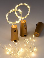 cheap -3pcs String led Wine Bottle with Cork 20 LED Bottle Lights Battery Cork for Party Wedding Christmas Halloween Bar Decor