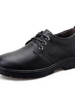cheap -Men's Comfort Shoes Leather Fall & Winter Oxfords Black / Brown
