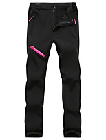 cheap -Women's Hiking Pants Softshell Pants Winter Outdoor Waterproof Windproof Breathable Warm Pants / Trousers Bottoms Camping / Hiking / Caving Traveling Winter Sports Black Purple Grey S M L XL XXL