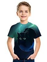 cheap -Kids Boys' Active Street chic 3D Print Short Sleeve Tee Green