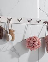 abordables -antirouille 3m auto-adhésif 304 # tige de cuisine en acier inoxydable tige de tissu cintre tour crochet salle de bain crochet nickel brossé 3m03 2 crochets 4 crochets 6 crochets
