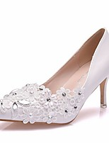 cheap -Women's Wedding Shoes Stiletto Heel Pointed Toe PU Spring & Summer White