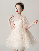 cheap -Princess Dress Girls' Movie Cosplay Cosplay Halloween Beige Dress Halloween Carnival Masquerade Tulle Polyester Sequin