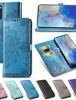 cheap -Case For Samsung Galaxy Note 10/Note 10 Plus/A30s Wallet / Card Holder / with Stand Full Body Cases Solid Colored / Flower PU Leather For Galaxy A20S/S20/S20 Plus/S20 Ultra/A51/A71/A81/A91