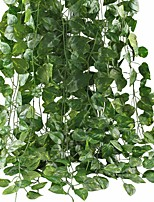 cheap -Artificial Ivy Leaf Garland Plants Vine for Hanging Wedding Garland Fake Foliage Flowers Home Kitchen Garden Office Wedding Wall Decor 2 Pack