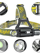 cheap -LITBest Cap Lights 1000 lm LED LED Emitters 3 Mode Rotatable Camping / Hiking / Caving Everyday Use Cycling / Bike Warm White Light Source Color