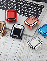cheap -Case For AirPods Shockproof / Plating / Cool Headphone Case Hard