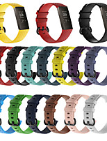 cheap -Watch Band for Fitbit Charge 3 Fitbit Modern Buckle Silicone Wrist Strap