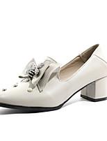 abordables -Femme Chaussures à Talons Talon Bottier Bout rond Polyuréthane Printemps & Automne Noir / Beige / Kaki